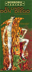 Cartel de la obra de teatro El lindo Diego